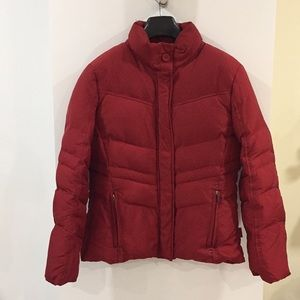 Calvin Klein cranberry red down filled coat M